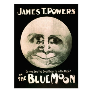 Vintage Performing Arts Poster Blue Moon 1906 Postcard