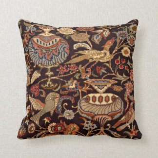 Vintage Persian Oriental Turkish Carpet Pattern Throw Pillow