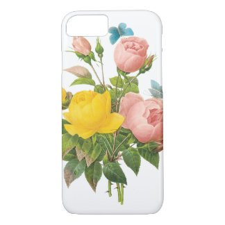 Vintage Persian Yellow Rose Tea Roses by Redoute iPhone 7 Case