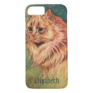 Vintage Pet Animals, Long Haired Orange Cat iPhone 7 Case