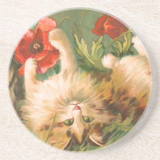 Vintage Pet Cat Coaster
