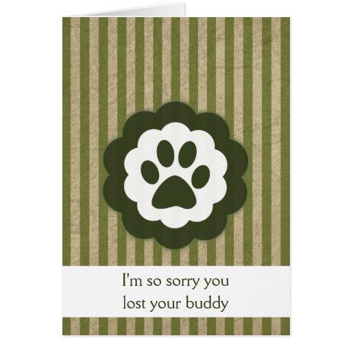vintage pet loss sympathy card