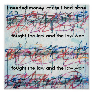 """Vintage Peter Max style """"I fought the law"""" Print"""