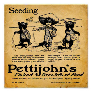 Vintage Pettijohns Breakfast Cereal Print/Poster Poster