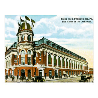 Vintage Philly Baseball Shibe Park Athletics Postcard