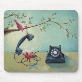 Vintage Phone & Birds Mousepad
