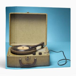 Vintage Phonograph Vinyl Binder