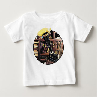 Vintage Phonograph In Library Circa 1880 Baby T-Shirt