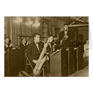 Vintage Photo Big Band Sax Card
