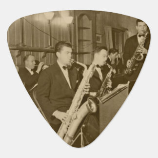 Vintage Photo Big Band Sax Guitar Pick