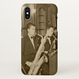 Vintage Photo Big Band Sax iPhone X Case