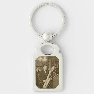 Vintage Photo Big Band Sax Keychain