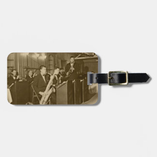 Vintage Photo Big Band Sax Luggage Tag
