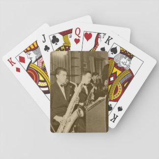 Vintage Photo Big Band Sax Playing Cards