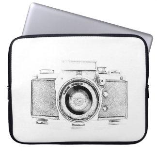 vintage photo camera photographer laptop sleeve