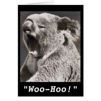 Vintage Photo Koala Congratulations on New Job Card