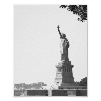 Vintage Photo New York City Statue of Liberty Poster