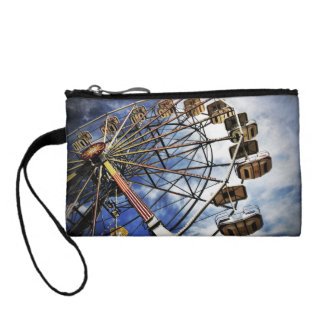 Vintage photo of ferris wheel coin wallets