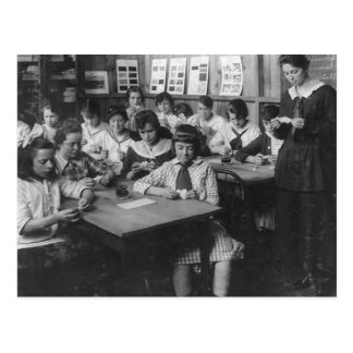 Vintage Photo of School Girls Postcard