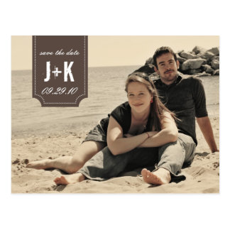 Vintage Photo Save the Date Card Template