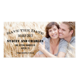 VINTAGE PHOTO SAVE THE DATE CUSTOMIZED PHOTO CARD