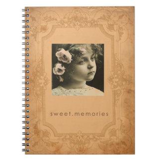vintage photo spiral journal