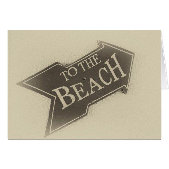 Vintage Photo To The Beach Arrow Card