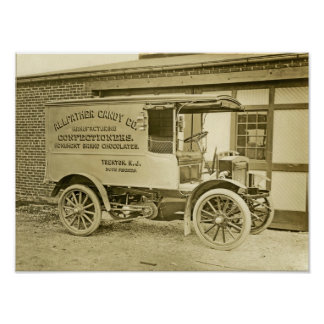 Vintage Photo Trenton's Allfather Candy Co Truck Poster