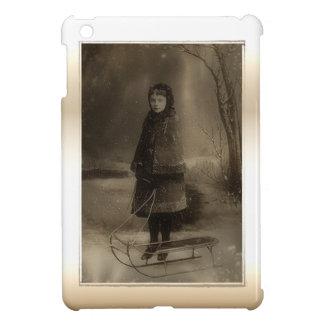 Vintage Photo Victorian Child Winter Sled iPad Mini Covers