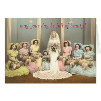 Vintage Photo Wedding card Bible verse
