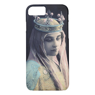 Vintage Photo Woman With Crown Cell Phone Case