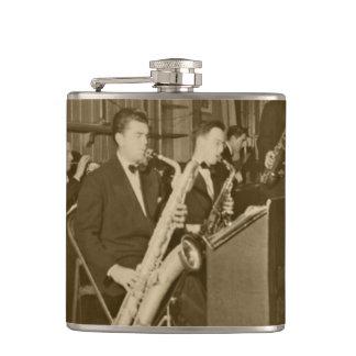 Vintage Photograph Big Band Sax Hip Flask