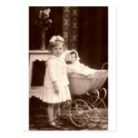 Vintage Photograph Child with Pram Post Cards