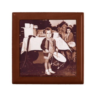 Vintage Photograph Drummer Boy c 1930s Gift Box