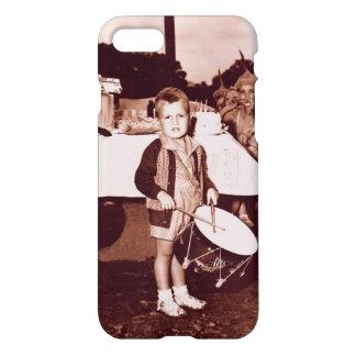 Vintage Photograph Drummer Boy c 1930s iPhone 8/7 Case