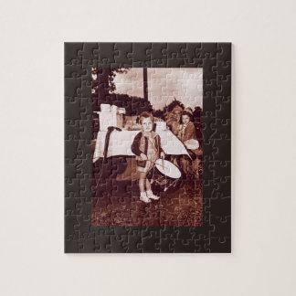Vintage Photograph Drummer Boy c 1930s Jigsaw Puzzle