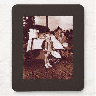 Vintage Photograph Drummer Boy c 1930s Mouse Pad