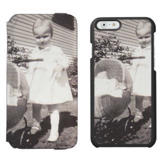 Vintage Photograph Little Girl w Baby Buggy Incipio Watson™ iPhone 6 Wallet Case