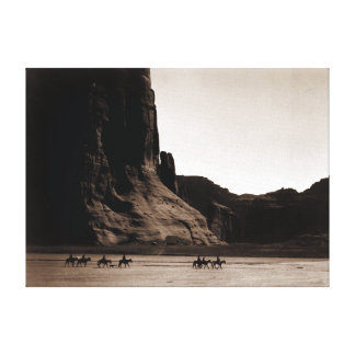 Vintage Photograph of Canyon de Chelly Canvas Print