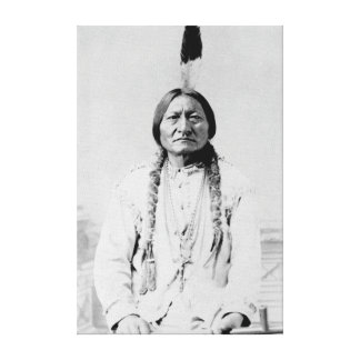 Vintage Photograph of Lakota Leader Sitting Bull Canvas Print