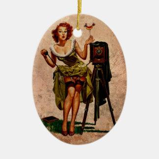 Vintage Photographer Ceramic Ornament