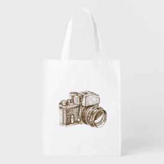 Vintage Photographer Reusable Bag Grocery Bag
