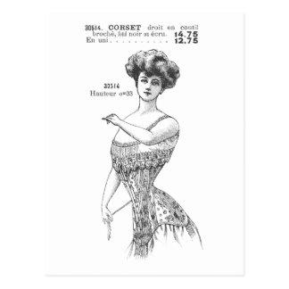 Vintage Photography Corset Postcard