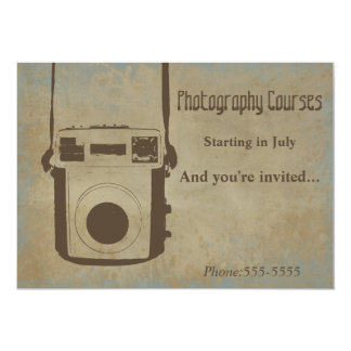 Vintage Photography Courses Invitation Card