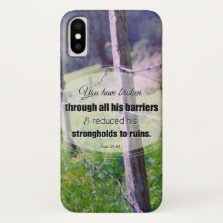 Vintage photography psalm 89:40 iPhone x case