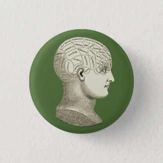 Vintage Phrenology Button