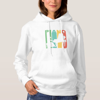Vintage Piano Graphic Hoodie