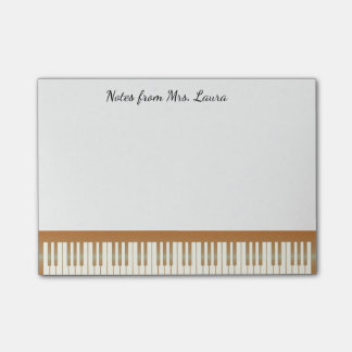 Vintage Piano Keyboard Music for Pianist Post-it Notes
