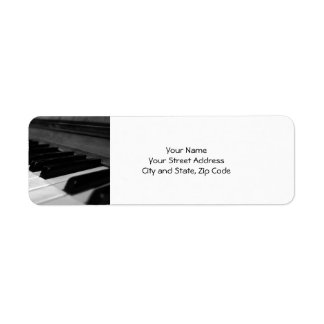 Vintage Piano Keys; Black and White