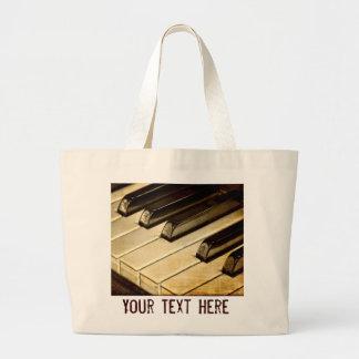Vintage Piano Keys Tote Bag